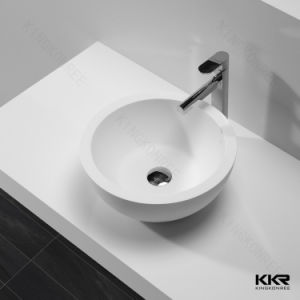 18-Inch Stone Resin Solid Surface Round Shape Bathroom Vessel Sink pictures & photos