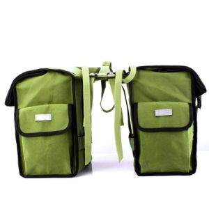 45L Water-Resistant Bicycle Rear Seat Carrier Bag Double Pannier Bag Army Green pictures & photos