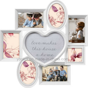 Plastic Multi Openning Home Decoration Heart Wall Photo Frame pictures & photos