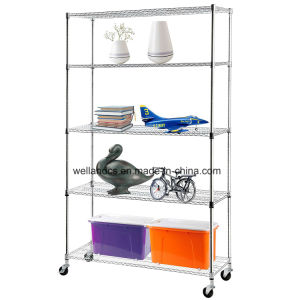 Adjustable 5 Tier Wire Shelving Rack Heavy Duty Chrome Steel Shelf, L48′′ X W18′′x H78′′ pictures & photos