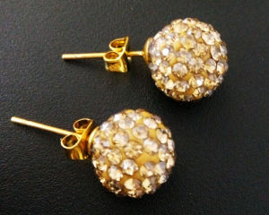 Simply Pave Crystal Earrings for Lady Girl