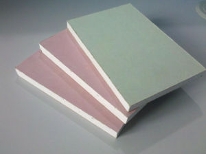 Standard Gypsum Board/Fireproof Gypsum Board/Waterproof Gypsum Board/Moistureproof Gypsum Board/Gypsum Board/1200*2400*9 pictures & photos