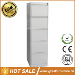 5 Tiers Knock Down Office Metal Drawer File Storage Cabinet pictures & photos