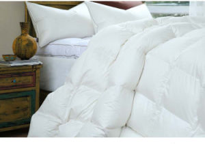 Luxury Solid Cover White Goose Down Filling Comforter Made in Xiaoshan