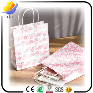 Colorful Heart Pattern Clear Purchasing Paper Bag pictures & photos