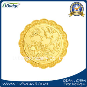 Gold Souvenir Coin with Moon Cake Shape pictures & photos