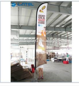 Outdoor Strong Aluminum&Fiber Glass Flag Pole Feather Flag Banner (LT-17F) pictures & photos