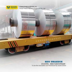 Powered Flat Transfer Cart China Steel Coil Rail Transfer Car pictures & photos