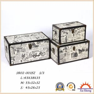 Antique Furniture Canvas Print Wooden Storage Gift Box Set of 3 Wooden Trunk pictures & photos