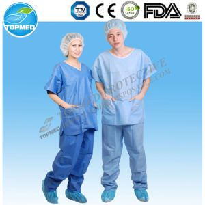 Disposable Nonwoven Medical Scrubs Suit, SMS Scrub Suit pictures & photos