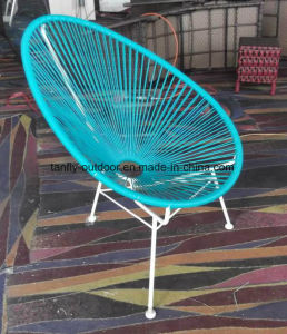 Colorful Acapulco Egg Chairs in Black, White, Yellow, Red, Blue, Green for Outside Use