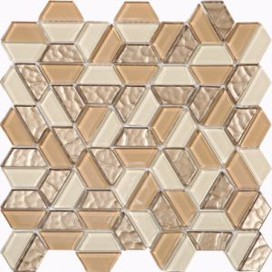 2017 Hexagon and Diamond Shape American Style Glass Mosaic pictures & photos
