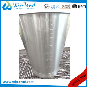 Stainless Steel Engraved Inclined Pail with Reinforced Bottom Base pictures & photos