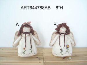 Home Decoration Angel with Hand Embroidered Apron-2asst pictures & photos
