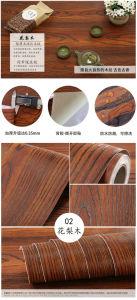 Mahogany Wood Grain Coffin Decorative Foil pictures & photos