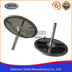75mm Continuous Rim Electroplated Saw Blade with Shank and Protection Teeth for Cutting Polyester Resin, Calcium Carbonat and Fibre Glass pictures & photos