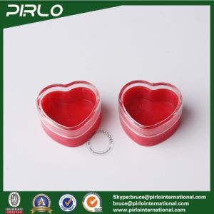 3G Red Color Heart Shape Plastic Jar, Small Plastic Cream Pot, Mini Cosmetic Eye Cream Jar with Clear Cap pictures & photos