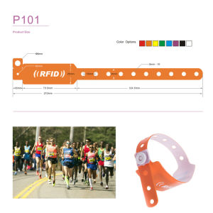 Waterproof ISO18000-6c Alien H3 UHF PVC Disposable Wristband pictures & photos