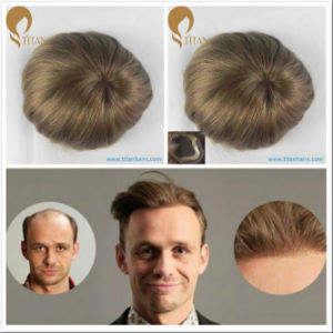 2017 Ultra Thin Poly Skin Human Hair Toupee with Factory Price