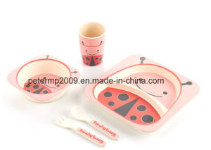 Eco-Friendly Bamboo Fiber Kids Dinnerware Sets pictures & photos
