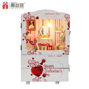 Educational DIY Wooden Doll House with Music Box pictures & photos