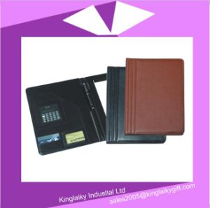 Classic PU Bisiness Portfolio for Promotion with Logo (MF-02) pictures & photos