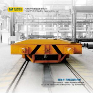 Heavy Cargo Transportation Self-Propelled Rail Flat Cart Work with Crane pictures & photos