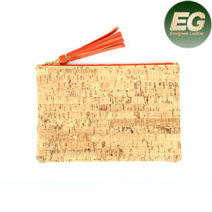 2017 Portugal Cork Women Clutch Bags Natural Cork Leather Bag Bark Sy7991 pictures & photos