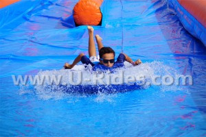 300m Long Orange and Bule Color Urban Water Slide for Summer Fun pictures & photos