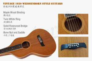 Aiersi Brand Handmade Weissenborn Guitar with Maple Binding (HG001) pictures & photos