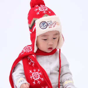 (LKN14016) Winter Crochet Beanie Hat for Girl pictures & photos