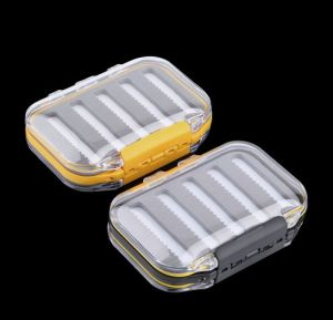 Plastic Waterproof Fly Fishing Double Side Clear Slit Foam Fly Fishing Box Fly Box Tackle Case Box pictures & photos