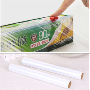 Transparent Top Quality Best Fresh Food Packaging Film Adhesive Film PE Cling Film pictures & photos