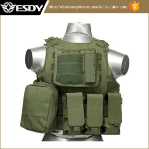 Airsoft Paintball Tactical Gear Army Combat Protective Vest Green pictures & photos