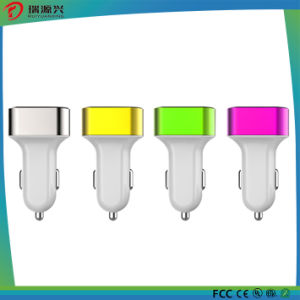 Triple USB Ports Stainless Steel Car Charger pictures & photos