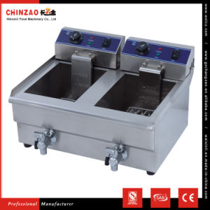 Double 10L Tank Commercial Stainless Steel Electric Deep Fat Fryer pictures & photos