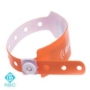 Waterproof ISO18000-6c Alien H3 UHF PVC Disposable Wristband