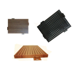 Perforated Aluminum Panel with Wooden Look Like Effect for Interior Decoration pictures & photos