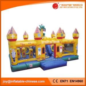 Giant Commercial Inflatable Dragon Castle with Obstacle Slide Combo (T6-050B) pictures & photos