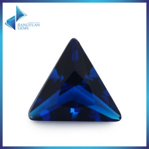 Triangle Dark Blue Clear Glass Stone for Jewelry Accessories pictures & photos