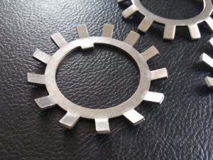 SS304 SS316 Ms Steel Lock Washer with External Teeth Serrated, Natural Color pictures & photos