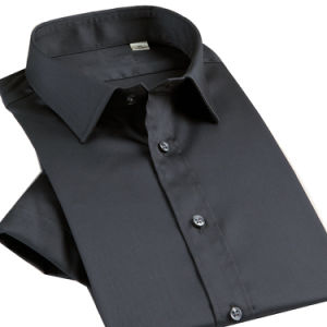 New Arrival Men′s Slim Fit Luxury Stylish Silk Dress Shirt pictures & photos