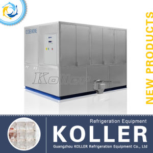 Stable Capacity 5tons Ice Cube Maker with PLC Program Control&Packing System (CV5000) pictures & photos