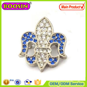 Hot Sale Crystal Lily Flower Magnetic Brooch Pin pictures & photos