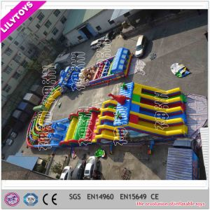 Super Large Inflatable Racing Amusement Obstacle Course in U Shape pictures & photos