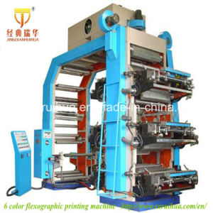 Best Quality 6 Color T-Shirt Bag Flexo Printing Machine pictures & photos