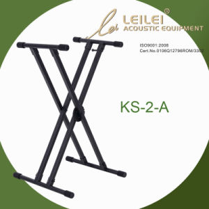 Heavy-Duty Double X Keyboard Stand KS-2-A pictures & photos