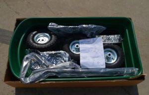 Plastic Dump Cart with Four Wheel pictures & photos
