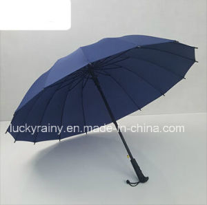 Straight Auto Open Advertising Umbrella with Pongee Fabric