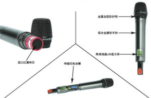 250m Receiver Range True Diversity Wireless Professional Microphone (TD-900D) pictures & photos